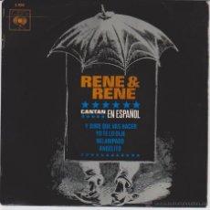 Discos de vinilo: RENE & RENE - ( CANTAN EN ESPAÑOL ) Y DIME QUE VAS HACER - ANGELITO + 2 - EP SPAIN 1964 VG++ / EX. Lote 49354559