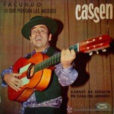 Discos de vinilo: CASSEN- FACUNDO- LO QUE PIENSAN LAS MUJERES- CARNET DE SEDUCIR- EN CASA DEL HERRERO - EP MOVIEPLAY. Lote 49359363