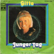 Discos de vinilo: GITTE - JUNGER TAG - SINGLE.. Lote 49362222