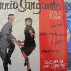 Discos de vinilo: ENNIO SANGIUSTO -EP 1962 . Lote 49364059