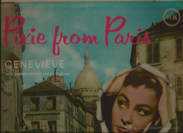 LP-GENEVIEVE PIXIE FROM PARIS-VOX 25300-USA 195??? (Música - Discos - LP Vinilo - Canción Francesa e Italiana)