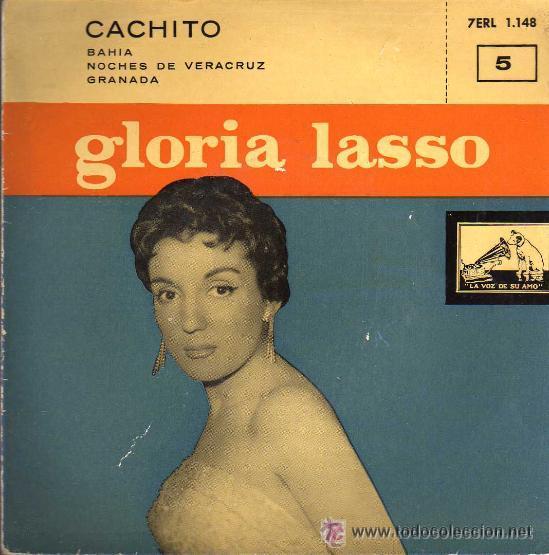 GLORIA LASSO CACHITO EP RARO DE 1958 (Música - Discos de Vinilo - EPs - Canción Francesa e Italiana)