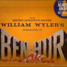 Discos de vinilo: BEN-HUR ( CAJA MGM RECORDS DELUXE EDITION / HIGH FIDELITY ( CONTIENE LP + LIBRO + CUADERNO + CARTA ). Lote 49386495