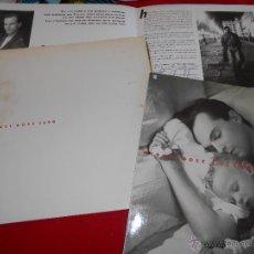 Discos de vinilo: MIGUEL BOSE LOS CHICOS NO LLORAN LP 1990 WEA FOLDER PROMO PROMOCIONAL CARPETA. Lote 49388375