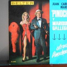 Discos de vinilo: JUAN CARLOS MARECO PINOCHO Y MARIQUITA GALLEGOS -OTRAS PINOCHADAS,1965 -BELTER. Lote 49391938