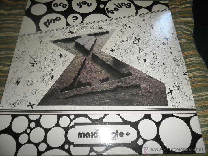 X - ARE YOU FEELING FINE? MAXI SINGLE A 33 R.P.M. - ORIGINAL ESPAÑOL - CITY MUSIC 1989 - (Música - Discos de Vinilo - Maxi Singles - Disco y Dance)