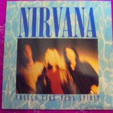 Discos de vinilo: NIRVANA - SMELL LIKE TEEN SPIRIT - SUB POP 1991 - EDICION ESPAÑA - UN PAR DE USOS SOLAMENTE. Lote 49404884
