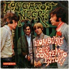 Discos de vinilo: GATOS NEGROS (RAMÓN FARRÁN) / HOMBURG (PROCOL HARUM) - SG SPAIN 1967 - VERGARA 45.232-A. Lote 49405284
