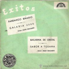 Discos de vinilo: SALGADO Y SU GRUPO DECIMO EP BERTA 1969 FANDANGO BINARIO/ GALAXIA 3000/ BAILARINA DE CRISTAL +1 RARO. Lote 49411392
