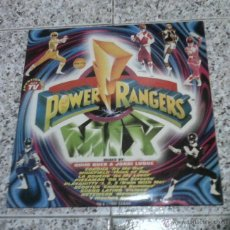 Disques de vinyle: POWER RANGERS MIX TRIPLE LP VINILO ESPAÑA 1995.. Lote 49413060