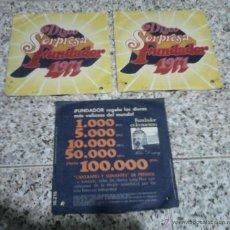 Discos de vinilo: SINGLE VINILO - LOTE DE 3 DISCOS SORPRESA FUNDADOR 1971.. Lote 49414460