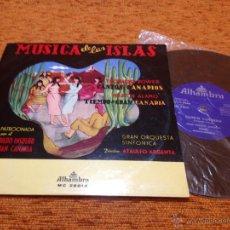 Discos de vinilo: MÚSICA DE LAS ISLAS - CANTOS CANARIOS - ALHAMBRA 1968 - DISCO VINILO LP - COMO NUEVO. Lote 49420938