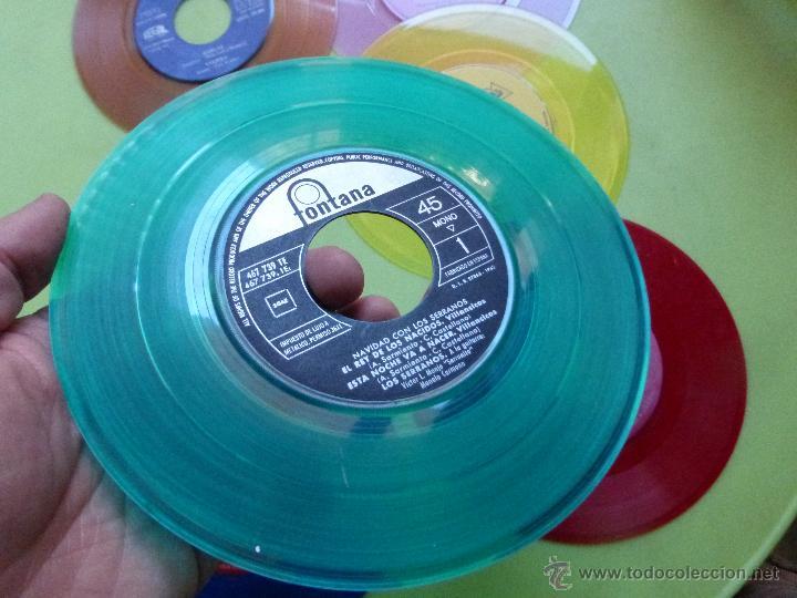 Discos de vinilo: LOTE DE 6 SINGLES DE DIFERENTES COLORES-DISCO SINGLE DE COLOR-VINTAGE-INTERESANTE PARA DECORACIÓN - Foto 5 - 49420956