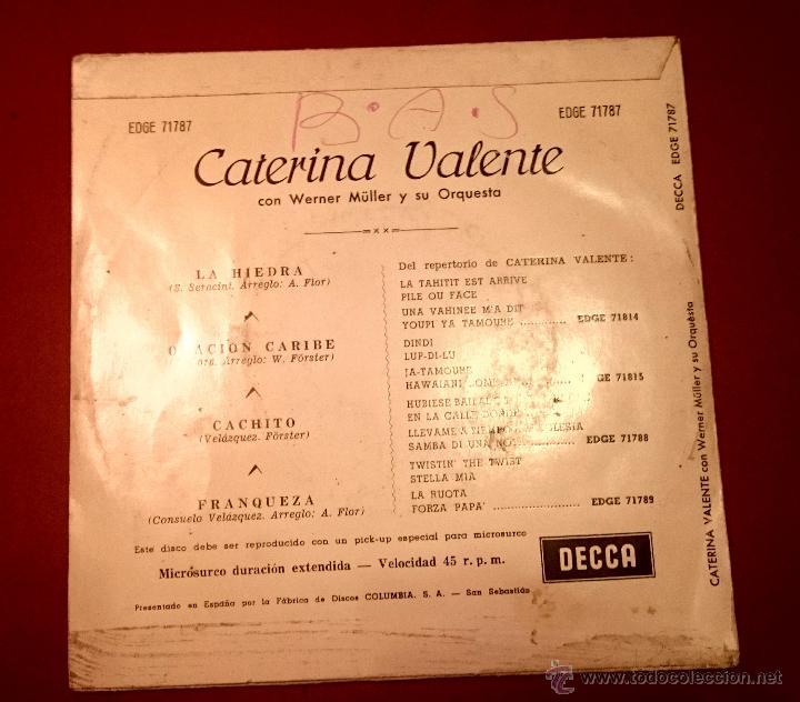Discos de vinilo: Caterina Valente - La Hiedra ... - DECCA 1963 - Foto 2 - 49421335