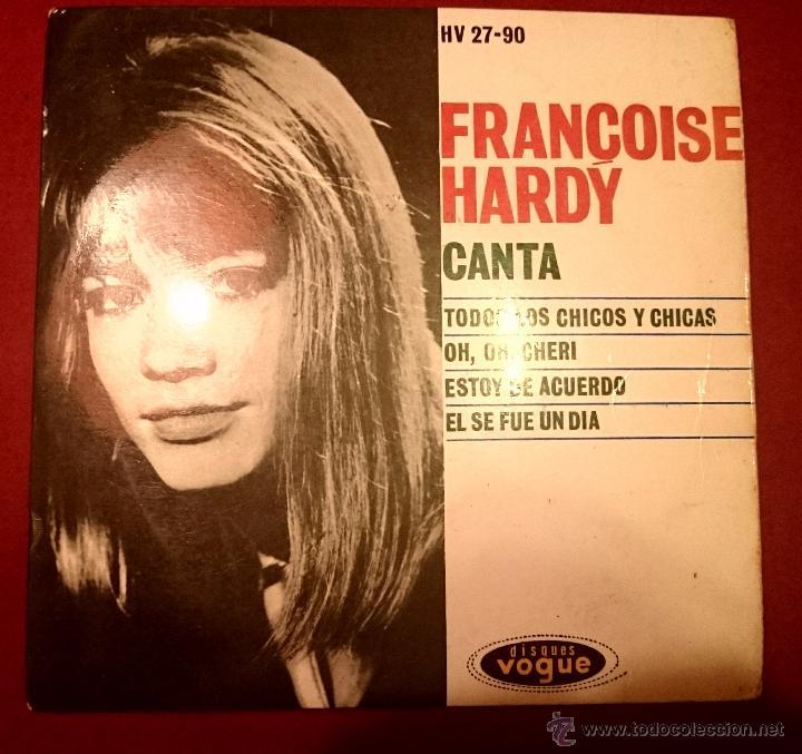 FRANCOISE HARDY - TODOS LOS CHICOS Y LAS CHICAS - VOGUE 1962 (Música - Discos de Vinilo - EPs - Canción Francesa e Italiana)