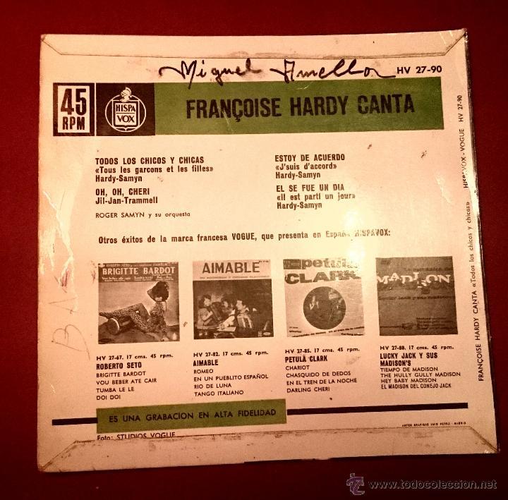 Discos de vinilo: Francoise Hardy - Todos los chicos y las chicas - Vogue 1962 - Foto 2 - 49421339