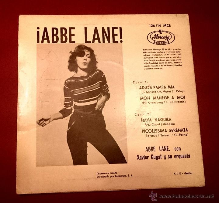 Discos de vinilo: Abbe Lane - Adios Pampa mia - Mercury - 1963 - Foto 2 - 49421344