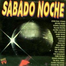 Discos de vinilo: SABADO NOCHE-JOHN PAUL YOUNG + RITCHIE FAMILY + DONNA SUMMER + VILLAGE PEOPLE + GLORIA GAYNOR + . Lote 113494490