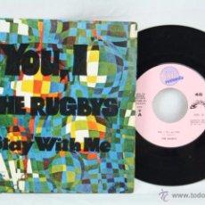 Discos de vinilo: SINGLE VINILO - THE RUGBYS. YOU, I / STAY WITH ME - ED. AMAZON / EXIT RECORDS - ESPAÑA, AÑO 1969. Lote 49426655