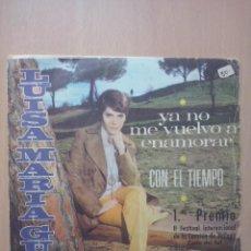 Discos de vinilo: LUISA MARIA GUEL - YA NO ME VUELVO A ENAMORAR / CON EL TIEMPO - SINGLE PENELOPE 1969. Lote 49427838