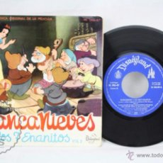Discos de vinilo: EP VINILO - CUENTO Y MÚSICA ORIGINAL DE LA PELÍCULA BLANCANIEVES Y LOS 7 ENANITOS - DISNEY, 1962. Lote 49428224