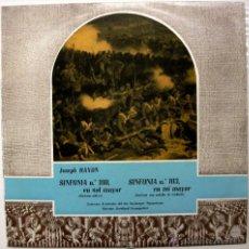 Discos de vinilo: JOSEPH HAYDN - SINFONIA N.100 / SINFONIA N.103 - LP 1961 CID BPY. Lote 49428423