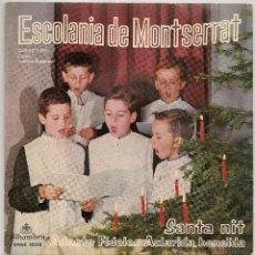 Discos de vinilo: ESCOLANIA DE MONTSERRAT - SANTA NIT (EP ALHAMBRA 1962 SPAIN). Lote 49430221