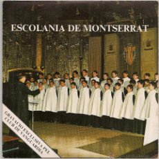 Disques de vinyle: ESCOLANIA DE MONTSERRAT - LA NIT JA ES DIA (SINGLE CLUB DE VANGUARDIA 1975 SPAIN). Lote 49430286