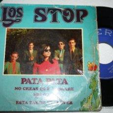 Discos de vinilo: LOS STOP PATA PATA - NO CREAS QUE LLORARÉ / MIS OJOS - ESTA TARDE VI LLOVER BELTER, 51881, 1968, MOD. Lote 49430777