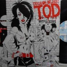 Discos de vinilo: TRASH ON DELIVERY- VARIOUS- PUNK/ROCK BANDS- SPANISH LP 1988- DOGS D´AMOUR/ THE BABYSITTERS..- EX/EX. Lote 49441858
