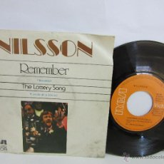 Discos de vinilo: HARRY NILSSON - REMEMBER - THE LOTTERY SONG - RCA - 1972 - VG+/VG. Lote 49441946