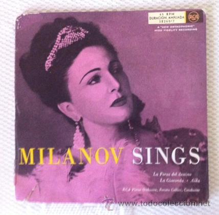 ZINKA MILANOV - MILANOV SINGS - LA FORZA DEL DESTINO, AIDA, LA GIOCONDA - DOBLE EP (Música - Discos de Vinilo - EPs - Clásica, Ópera, Zarzuela y Marchas)