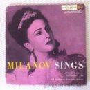 Discos de vinilo: ZINKA MILANOV - MILANOV SINGS - LA FORZA DEL DESTINO, AIDA, LA GIOCONDA - DOBLE EP. Lote 49449277