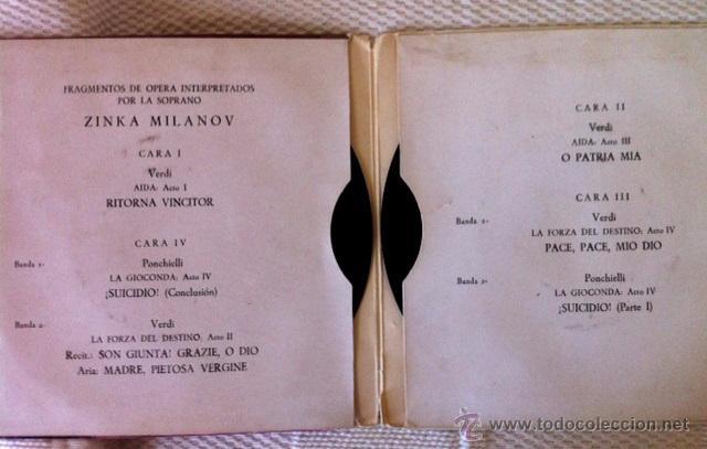 Discos de vinilo: ZINKA MILANOV - MILANOV SINGS - LA FORZA DEL DESTINO, AIDA, LA GIOCONDA - DOBLE EP - Foto 2 - 49449277