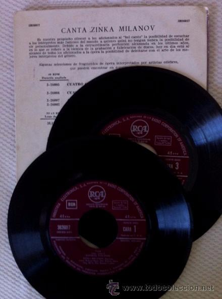 Discos de vinilo: ZINKA MILANOV - MILANOV SINGS - LA FORZA DEL DESTINO, AIDA, LA GIOCONDA - DOBLE EP - Foto 3 - 49449277