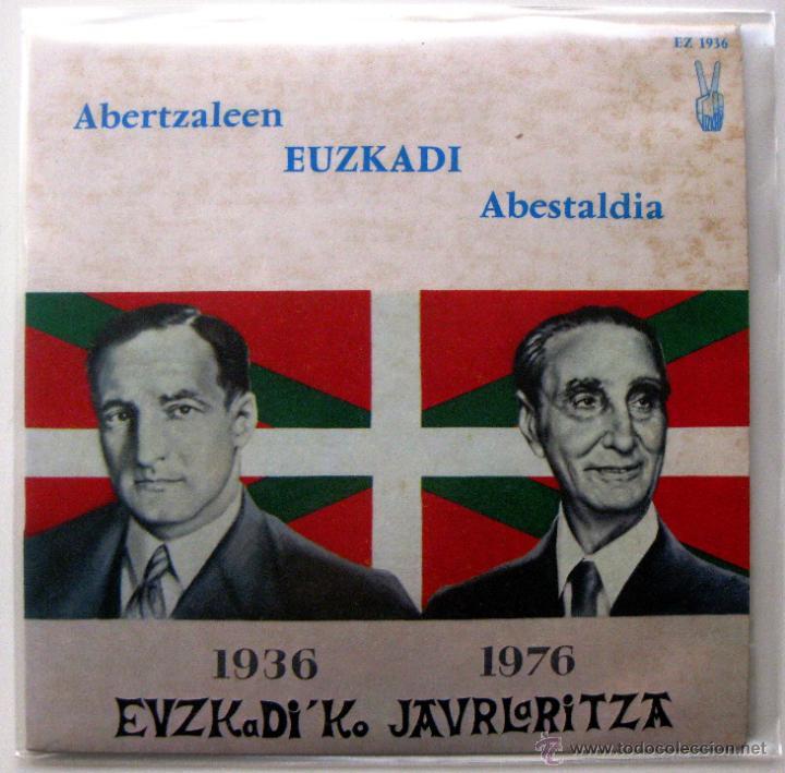 ABERTZALEEN EUZKADI ABESTALDIA 1936-1976 EUZKADI'KO JAURLARITZA - EP EUZKADI 1976 FRANCIA BPY (Música - Discos de Vinilo - EPs - Country y Folk)