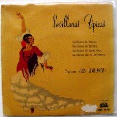 Discos de vinilo: CONJUNTO LOS SEVILLANOS - SEVILLANAS TÍPICAS - EP REGAL 1958 BPY. Lote 49450689