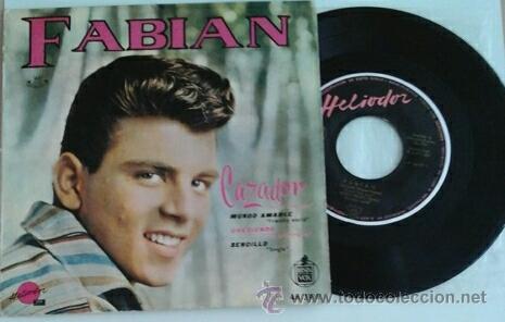 FABIAN -EP- CAZADOR + 3 SPAIN 1960 (Música - Discos de Vinilo - EPs - Pop - Rock Extranjero de los 50 y 60)