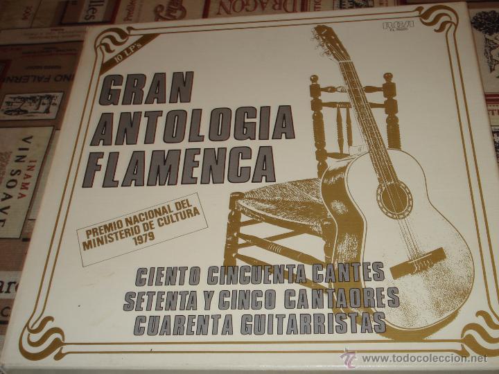 GRAN ANTOLOGIA FLAMENCA - CAJA CON 10 LP - 1979 CON LIBRETO (Música - Discos - LP Vinilo - Flamenco, Canción española y Cuplé)