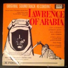 Discos de vinilo: LAWRENCE OF ARABIA - BSO - LONDON PHILARMONIC ORCHESTRA - MAURICE JARRE. Lote 49456191
