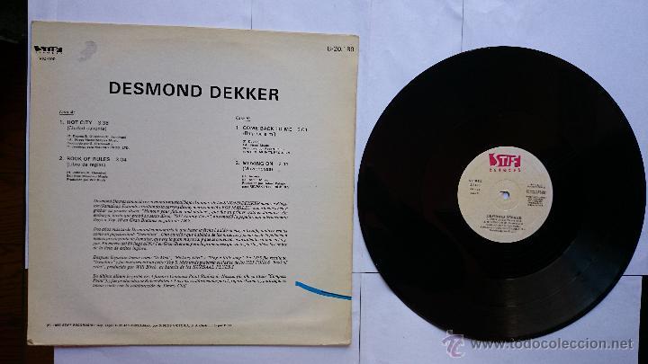 Discos de vinilo: DESMOND DEKKER - HOT CITY / BOOK OF RULES / COME BACK TO ME / MOVING ON (MAXI 1983) - Foto 2 - 49462796