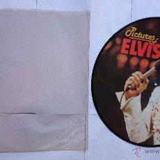 Discos de vinilo: ELVIS PRESLEY - PICTURES OF ELVIS (RECOPILATORIO-PICTURE DISC EDICION DANESA 1984). Lote 49471803