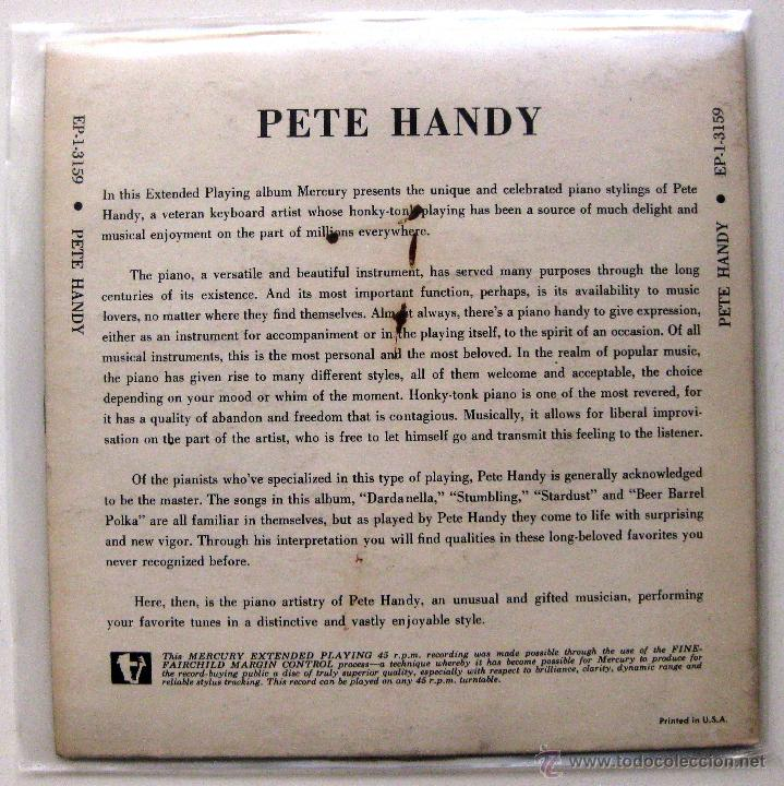 Discos de vinilo: Pete Handy - Beer Barrel Polka - EP Mercury 1954 USA BPY - Foto 2 - 49472497