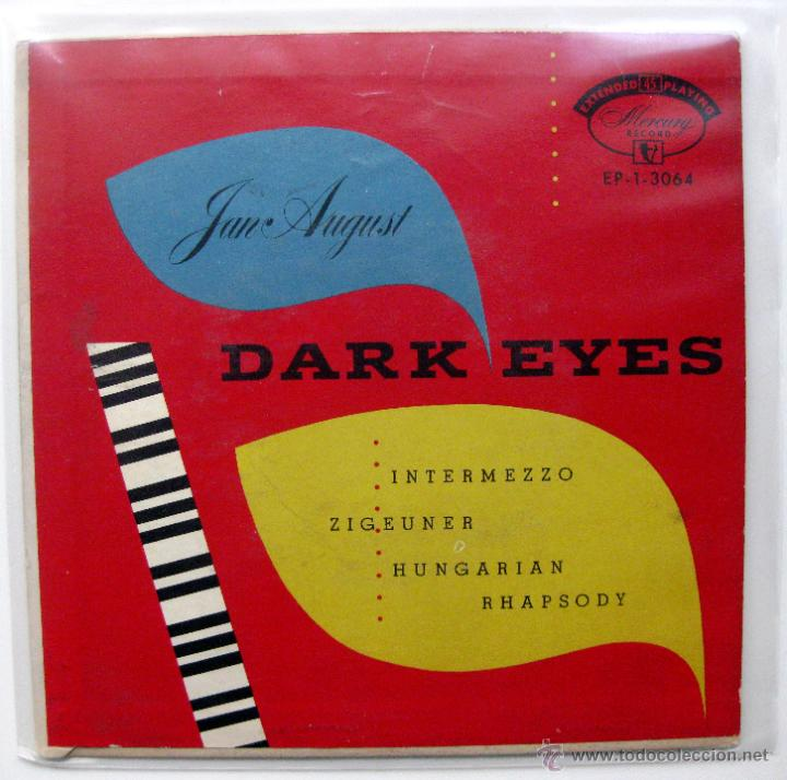 JAN AUGUST - DARK EYES - EP MERCURY 1954 USA BPY (Música - Discos de Vinilo - EPs - Jazz, Jazz-Rock, Blues y R&B)