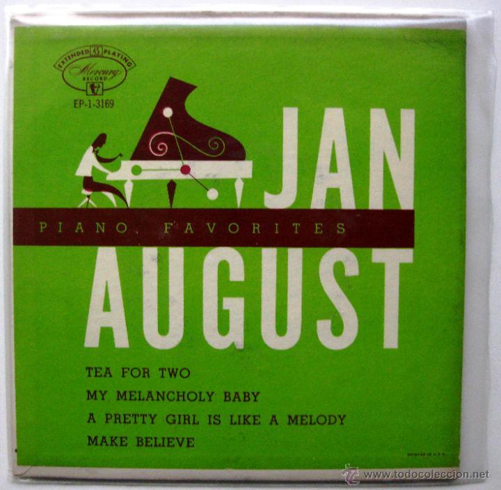 JAN AUGUST - PIANO FAVORITES WITH JAN AUGUST - EP MERCURY 1954 USA BPY (Música - Discos de Vinilo - EPs - Jazz, Jazz-Rock, Blues y R&B)