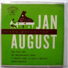 Discos de vinilo: JAN AUGUST - PIANO FAVORITES WITH JAN AUGUST - EP MERCURY 1954 USA BPY. Lote 49472593