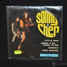 Discos de vinilo: SONNY & CHER - LITTLE MAN +3 - EP . Lote 49475148