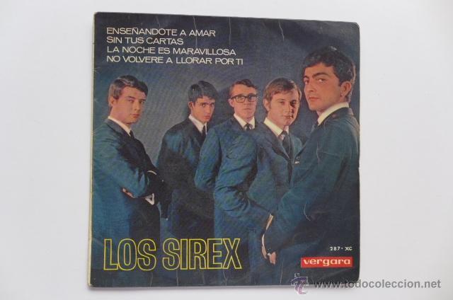 CARPETA DE SINGLE. LOS SIREX. ENSEÑÁNDOTE A A AMAR + 3. EP VERGARA. AÑO 1967. (Música - Discos de Vinilo - EPs - Grupos Españoles 50 y 60)
