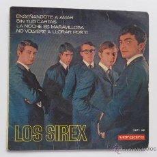 Discos de vinilo: CARPETA DE SINGLE. LOS SIREX. ENSEÑÁNDOTE A A AMAR + 3. EP VERGARA. AÑO 1967.. Lote 49475431