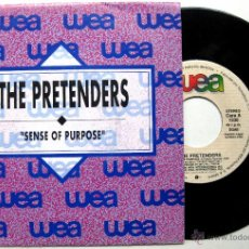 Discos de vinilo: THE PRETENDERS - SENSE OF PURPOSE - SINGLE PROMO WEA RECORDS 1990 BPY. Lote 49480556